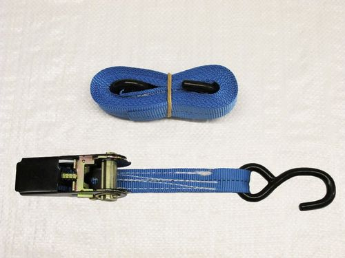 Blue Ratchet Straps With S Hooks